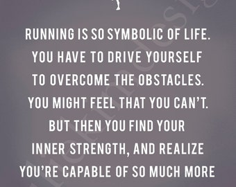 PRINTABLE Running Strong Male PDF 8x10
