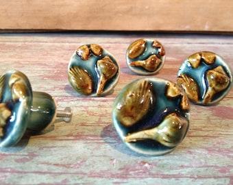 Shell Cabinet Knob - Scallop, Conch - Ceramic Drawer Pull
