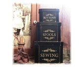 Sewing  theme shaker stacking boxes