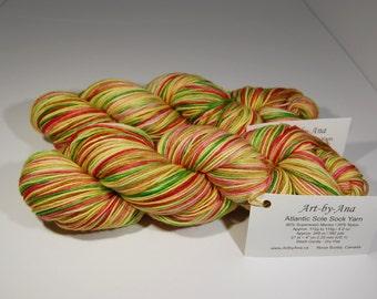 Atlantic Sole Sock  - Hand Dyed Yarn