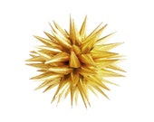 NEW Gold Christmas Ornament, Paper Decoration, Gold Holiday Decor, Modern Christmas Ornament, Polish Star Ornament - Luminous Gold, 3 inch