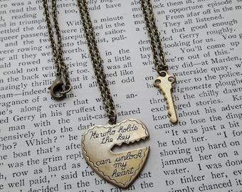 He Who Holds the Key Necklace Set // Boyfriend // Girlfriend // Valentine's Day // Key to My Heart