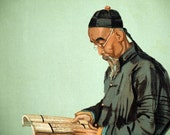 Vanity Fair Print - Chinese Diplomat Chang Ta-Jen - Drawing by Spy - 1903 Antique Chromolithograph - Gift for Him