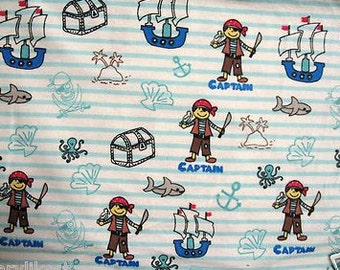 Pirates treasure chests Flannel baby Blanket receiving or Toddler Nap