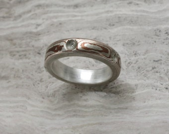 Mokume Gane Ring Size 7 Other sizes may be available Sterling silver liner