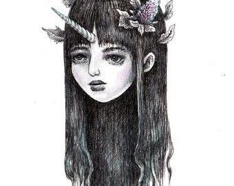 Unicornia - 5x7 print