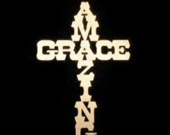 NEW! Amazing Grace Cross! 1/4'' thick Baltic Birch, You Choose the Size! L-002