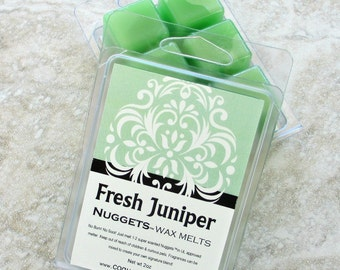 Fresh Juniper wax melts, strong no burn scenting, fresh herbal fragrance, spa scent