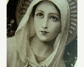 20PercentOff Antique Holy Ephemera Paper Card from Paris France Virgin Mary Mother of God