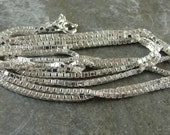 Bright Polished Sterling Silver 1.5 MM Box Chain - 24 Inch With Clasp - One Piece - bx1.524p