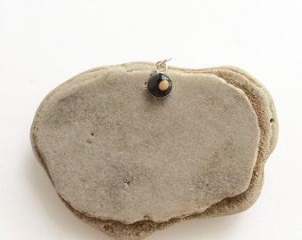 teeny tiny mustard seed charm. teeny tiny mustard seed necklace. sterling mustard seed necklace. matthew 1720 parable scripture gift.