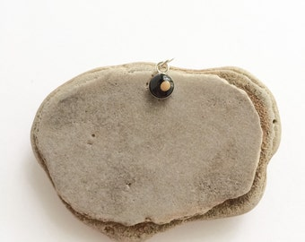 tiny mustard seed charm  - teeny tiny sterling silver mustard seed charm pendant - tiny mustard seed necklace, matthew 1720