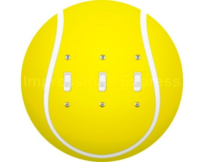Tennis Ball Triple Toggle Switch Plate Cover