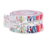ON SALE Aria Jelly Roll Fabric -  Moda - Kate Spain - Butterflies and Flowers