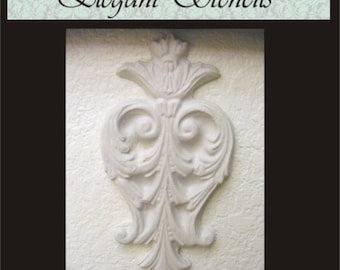 Plaster Mold, Crowned Acanthus Plaster Mold Craft Mold Clay Mold