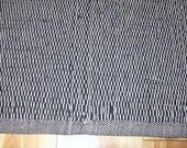 Rag Rug Black Rag Rug Upcylced Rug Recycled Rag Rug Hand Loomed Black Rug 38 inches long