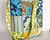 Reserved for Yippee8999  Quilted Bag, Amy Butler Fabric Bag, Shoulder Bag, Quilted Patchwork, Handmade, Boho chic,  Slouchy Bag,