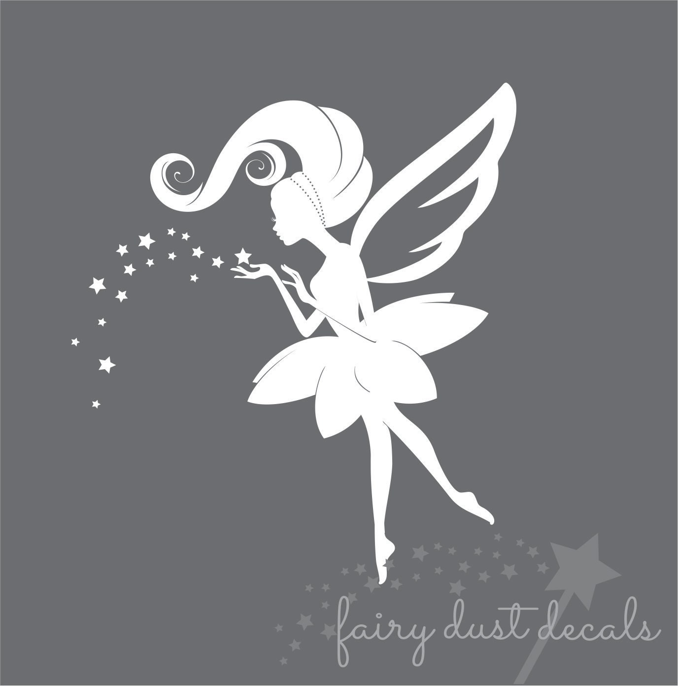 Fairy Stickers For Walls Fairy Wall Decal Vinyl Fairy Decal Fairy Princess Decal