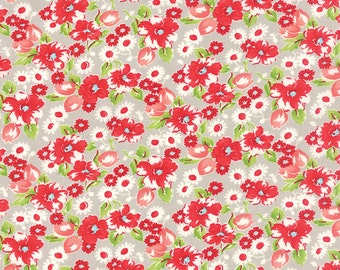 SPRING SALE - 1 yards - Little Ruby -  Swoon in Gray (55130-15) - Bonnie and Camille for Moda Fabrics