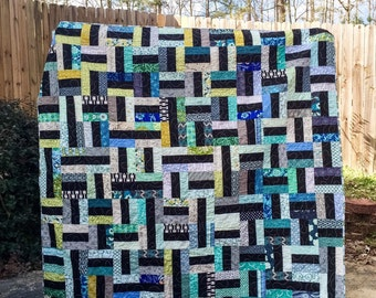 Basketweave Quilt, You choose Size and color palette