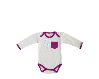 Organic Infant Bodysuit Orchid
