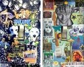 Original SUBLIME / NIRVANA Light Switch Plate Collage Art Dave Matthews Kurt Cobain The Doors Rob Zombie Jim Morrison Bob Marley Switchplate