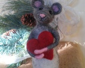 Needle felted mouse