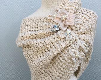 Bridal Shawl, handmade, shrug, bidesmaid gift,  wedding accessories,  Wedding Shawl, Bridal accessories, handmade shawl, knitting shawl,