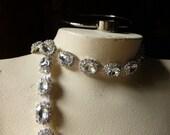 "9"" Rhinestone Trim  for Bridal,  Sashes, Headbands, Jewelry"