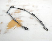 Sterling Silver Link Bracelet with Patina