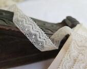 "Antique Lace Trim in Cream Cotton 6 Yards x 9/16"" Wide"