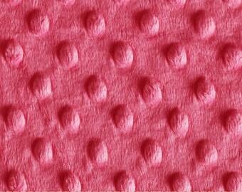 "Minky Cuddle Dimple Dot Fuchsia Pink - 40"" x 23"" piece"