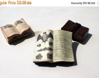 ON SALE Miniature Open Book --- Bats