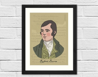 SALE: Ltd Ed Robert Burns A5 Signed Art Print