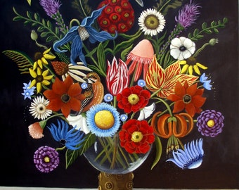 Be Still- Life  Fine art print  of Original paintings by Catherine Nolin  vintage