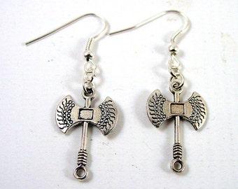 Axe Earrings - Viking Earrings - Larp Earrings - Reenactor Earrings
