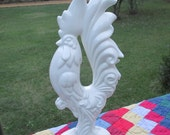 Vintage Rooster Ceramic Statue--Tall Proud Strutting Rooster--Retro Kitchen--Country Farmhouse Decor--Chicken Figurine--
