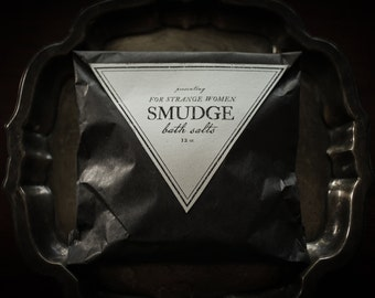 Smudge Bath Salts-  all natural white sage, peppermint, clary sage bath soak