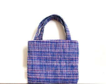 The Sassy Bag  - A Kohn Designs Original - Small Purse in Mixed Blues