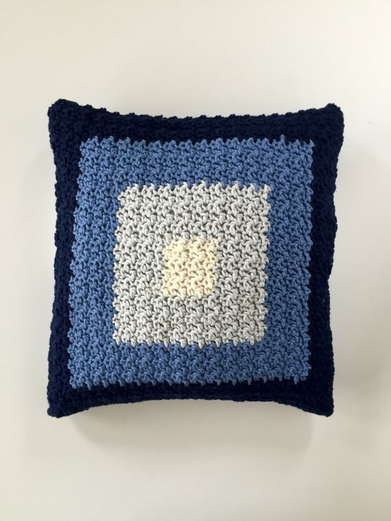 Pillow Cover Crochet PATTERN - Modern Pillow - Pillow Cover - Squares Design from ...