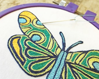 DIY Instant Download Peacock Butterfly perfect for eye glass case