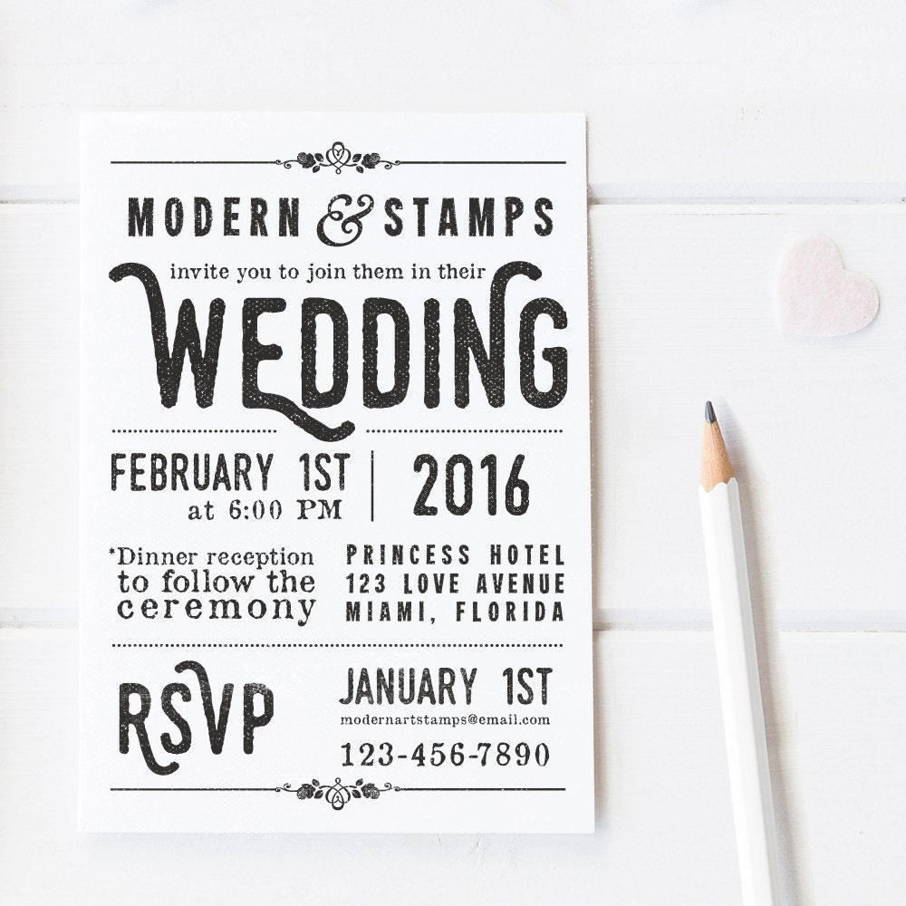 Wedding Invitation Stamp Wedding Stamp Custom Wedding Stamp Custom ...