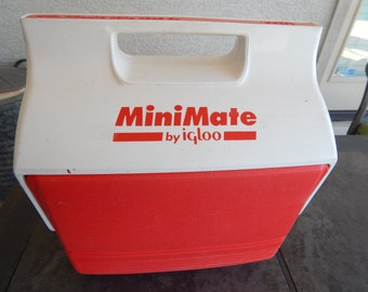 Vintage Mini Mate By Igloo Cooler Red Havoline Oil Racing