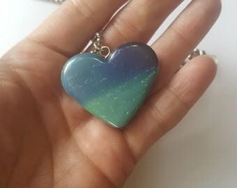 Aurora Borealis Paper Pendant Necklace