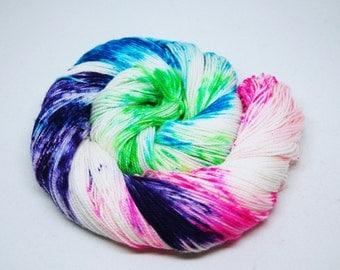 "Acoustic Sock Yarn - ""Pandora's Aquarium"" - Handpainted Superwash Merino - 400 Yards"