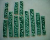 VN11 - 11 pc IVY BORDER - Ceramic Mosaic Tiles