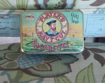 Vintage Players Navy Cut Cigarette Tin Replicans Bedford England