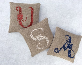 USA Mini Shelf Pillows /Patriotic Decoration/ Fourth of July decoration