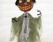 Gourd Art Figure Doll ,  Witch Art Doll, Purple Myst, OOAK Gourd Figure Art