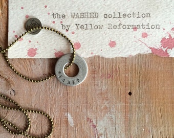 m e d i u m on antique brass : the W A S H E D collection